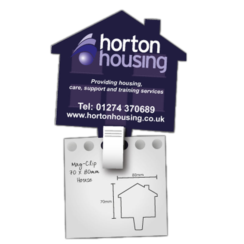 House Shape MagClip Fridge Magnet 70mm x 80mm