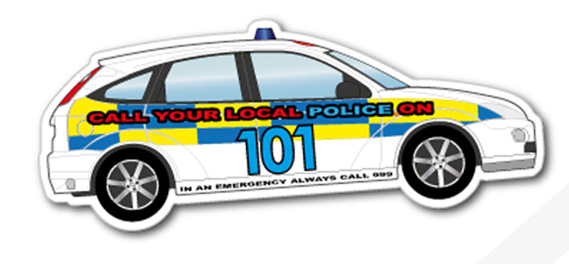 Police Car Magnet 125mm x 50mm