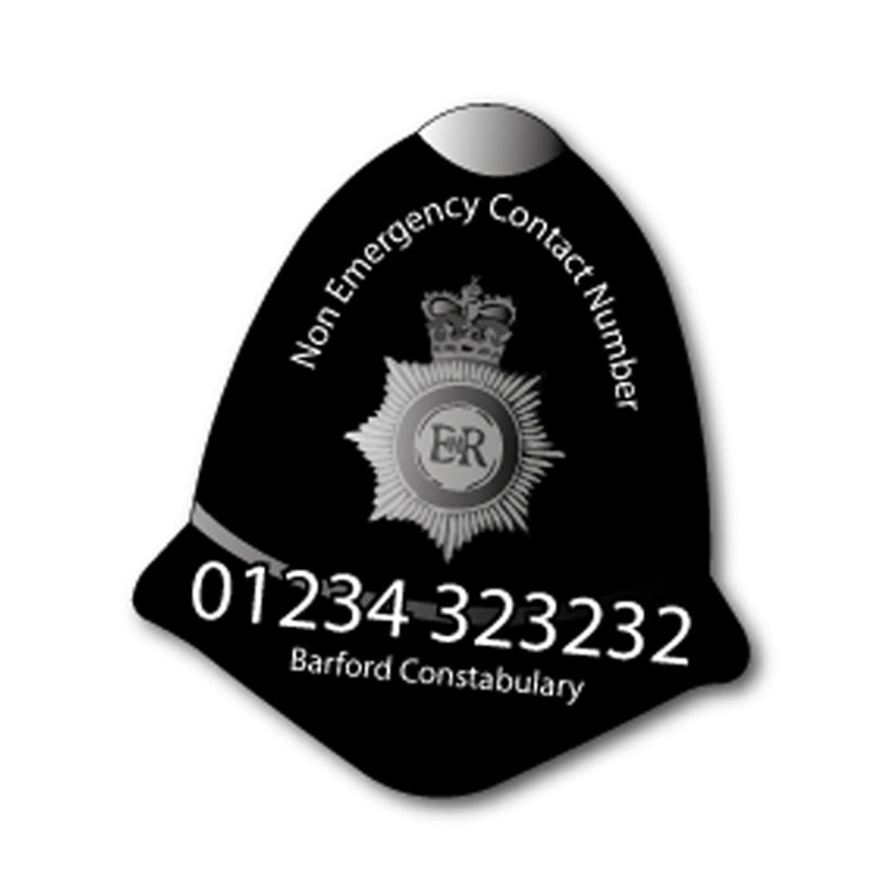 Police Helmet Fridge Magnet 80 x 70mm