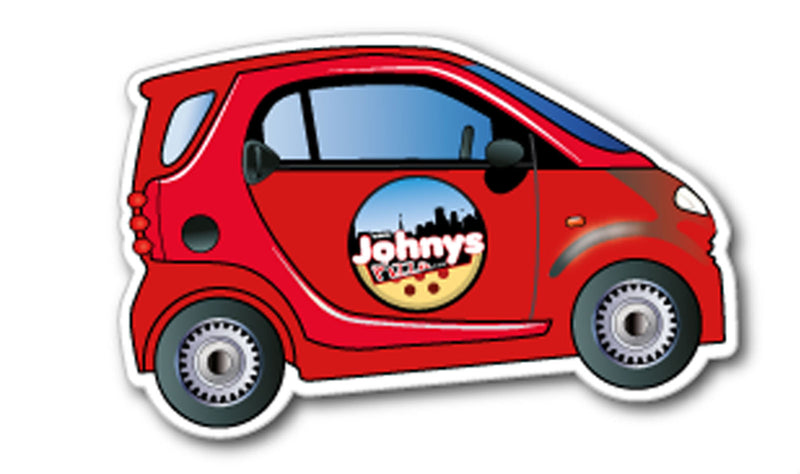 Smart Car Fridge Magnet 53mm x 84mm