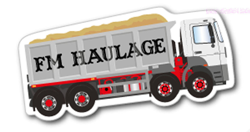 Tipper Truck Fridge Magnet 42mm x 90mm