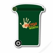 Recycle Food Waste Bin Fridge Magnet 60mm x 82mm