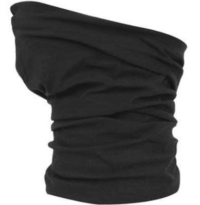 Plain Black Snood Mask