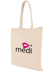 Natural Cotton Shopper Branded Bag  - 5 Oz