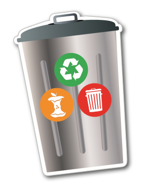 Recycle Metal Bin Fridge Magnet