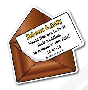 Envelope Fridge Magnet 85mm x 85mm