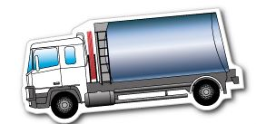 Lorry Fridge Magnet 45mm x 97mm