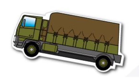 Military Lorry Fridge Magnet 45mm x 97mm