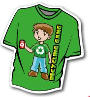 T-Shirt Fridge Magnet 60mm x 65mm
