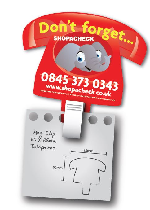 Telephone Magclip Fridge Magnet 60mm x 85mm