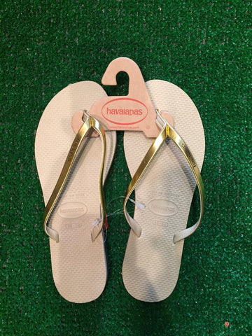 HAVAIANAS METALLIC SAND GREY/LIGHT GOLD