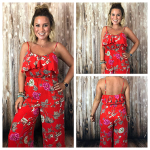 Red Apple Jumpsuit