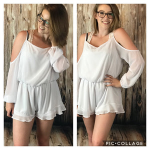 White Beach Romper