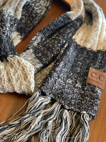 Black Licorice Knitted Scarf
