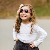 Babiators Tickled Pink Two Tone Aviator Sunglasses