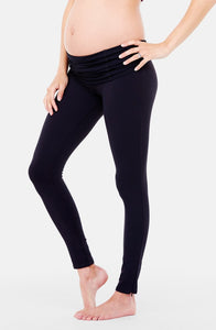 Active Maternity Leggings with Crossover Panel