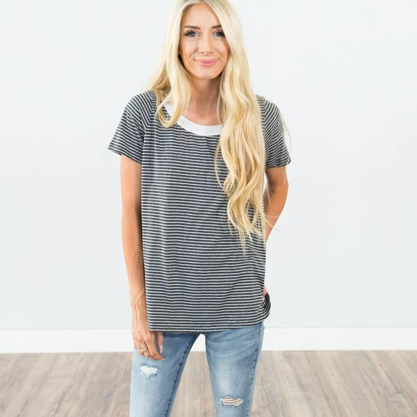 Lyric Stripe Tee