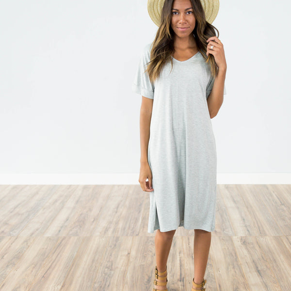 Presley Dress in Heather Grey