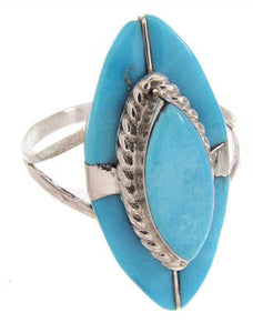 Zuni Jewelry Turquoise And Silver Ring Size 6-1/4 MW68298