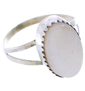 Sterling Silver Navajo Pink Shell Jewelry Ring Size 7-3/4 RS77190