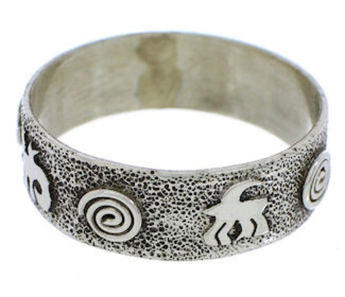 Sterling Silver Lizard Native American Ring Size 5-3/4 EX30330