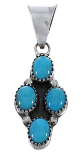Navajo Indian Silver Jewelry Turquoise Pendant MX25672