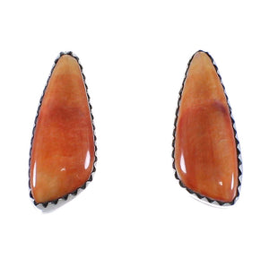 Silver Jewelry Native American Oyster Shell Post Earrings PX40558