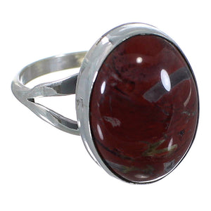 Jasper Sterling Silver Native American Ring Size 7-1/4 PX40342