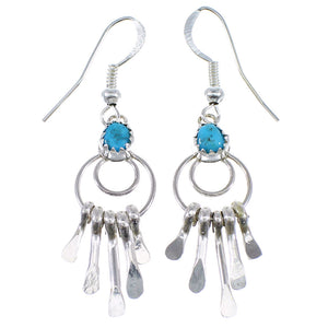 Navajo Indian Turquoise Genuine Sterling Silver Earrings EX48329