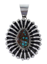 Navajo Kingman Turquoise Sterling Silver Jewelry Pendant RX96189