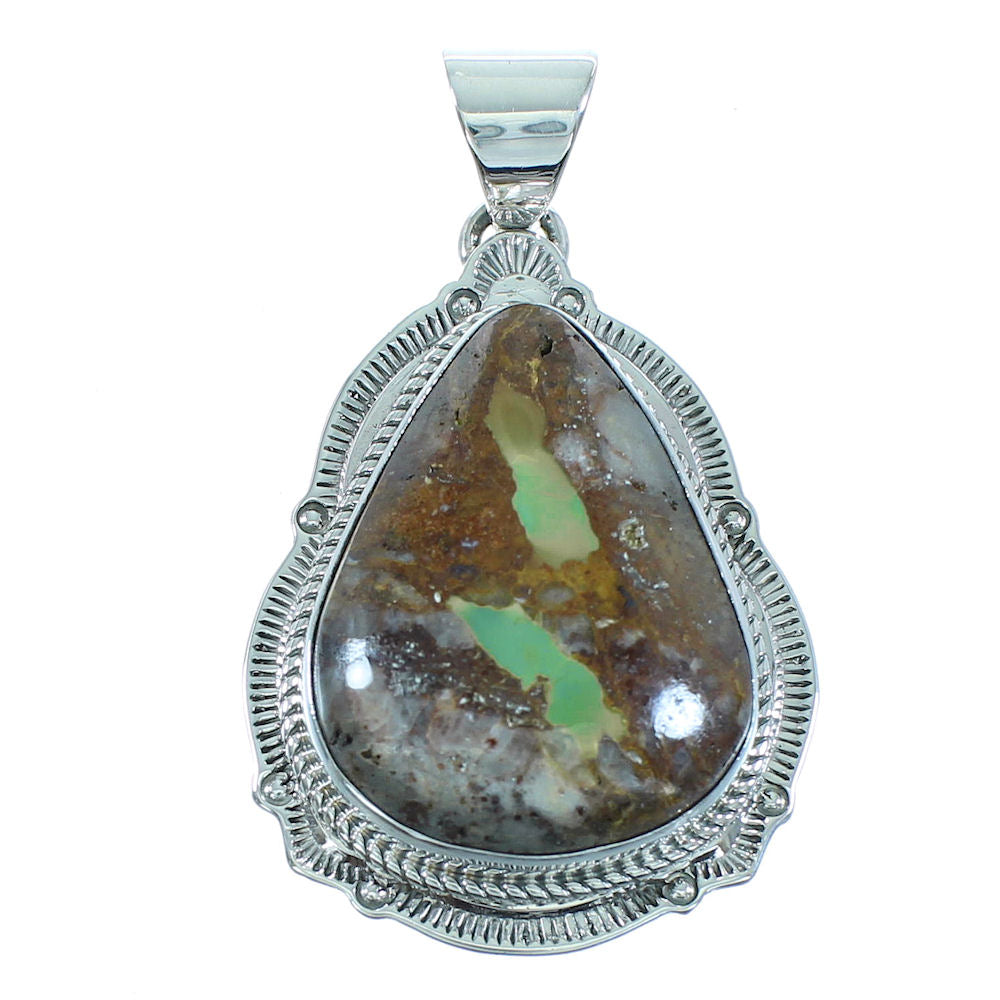 Turquoise Navajo Genuine Sterling Silver Pendant AX102002