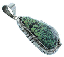 Authentic Sterling Silver Navajo Turquoise Pendant AX102140