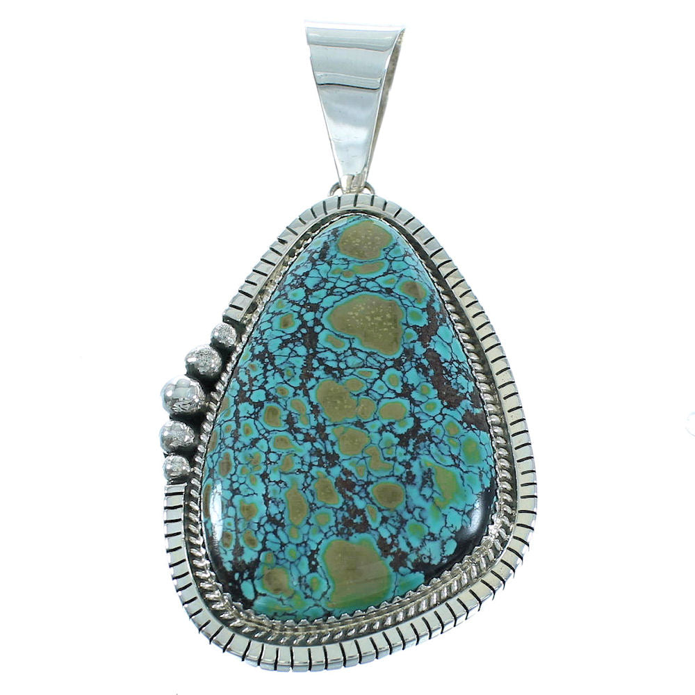 Navajo Silver Turquoise Pendant AX102145