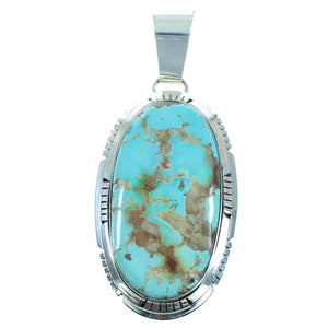 Authentic Sterling Silver Royston Turquoise Navajo Pendant AX102295
