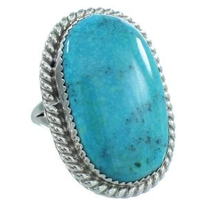 American Indian Sterling Silver Turquoise Navajo Ring TX104001