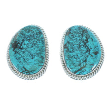 Authentic Sterling Silver Turquoise Navajo Clip-On Earrings SX104929