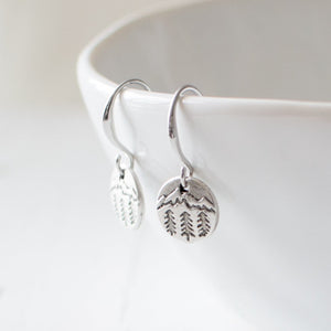 Antique Silver Forest Earrings