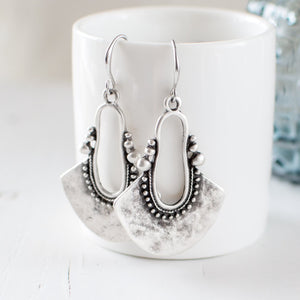 Antique Silver Statement Earrings