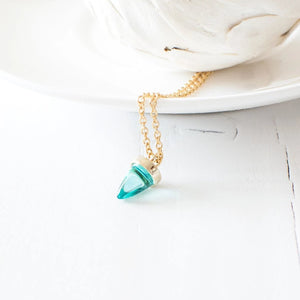 Tiny Glass Spike Necklace