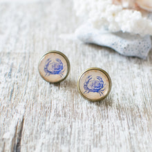 Blue Crab Earrings