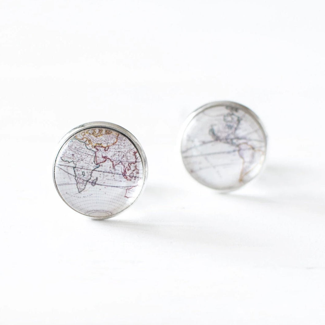 Antique World Map Cufflinks