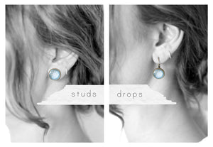Sky Blue Snowflake Earrings