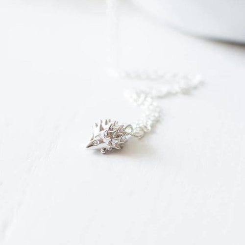 Tiny Hedgehog Pendant Necklace