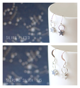 Silver Squirrel Earrings