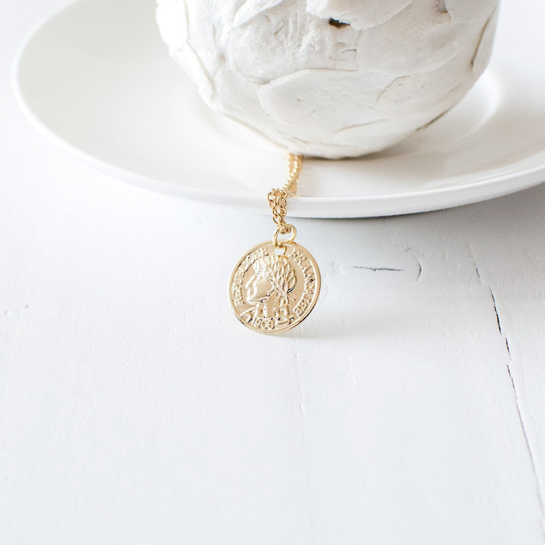 Antique Coin Necklace