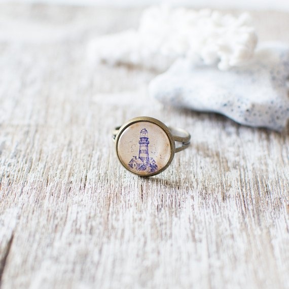 Blue Lighthouse Ring