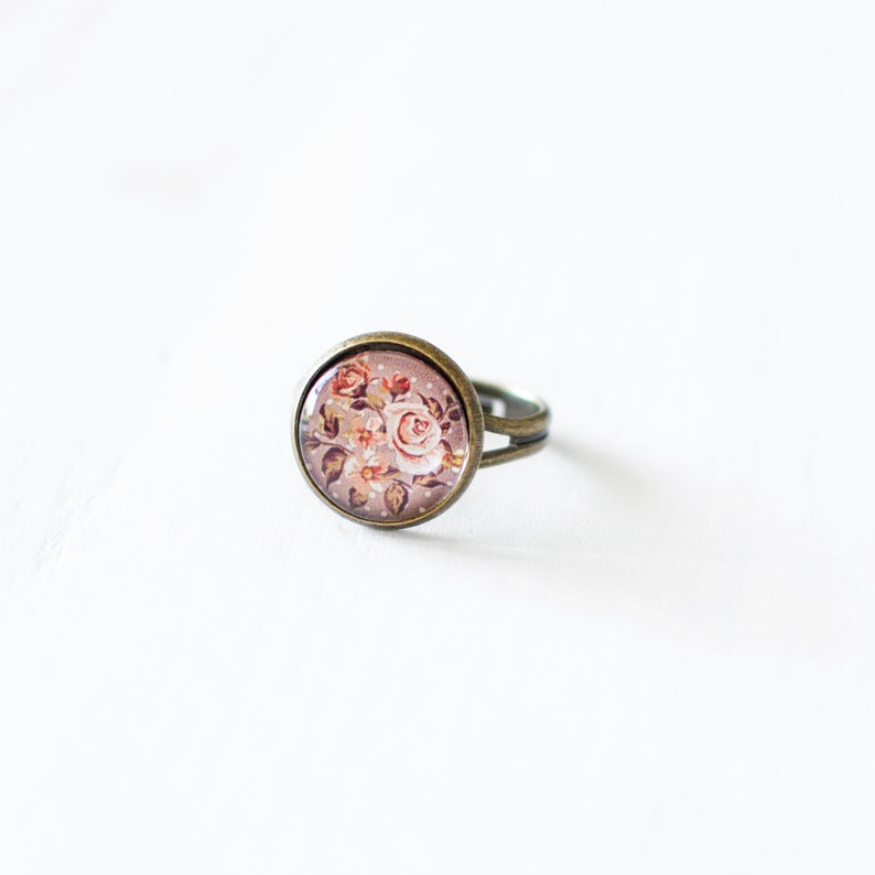 Peach Rose Ring