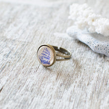 Blue Sailing Ship Ring