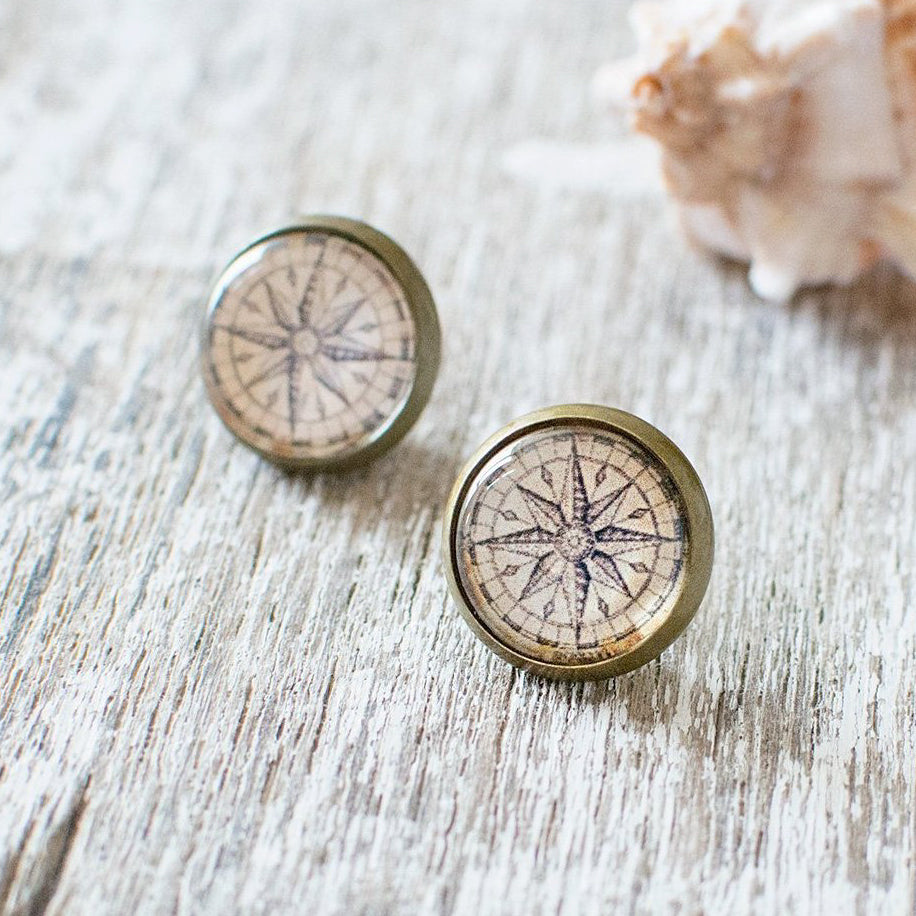 Compass Rose Earrings