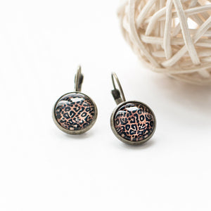Leopard Print Stud Earrings